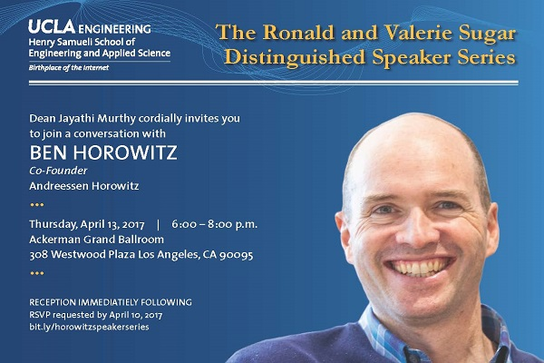 UCLA Engineering to host Ben Horowitz MS '90 on April 13