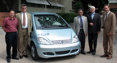 Hydrogen Fuel Cell Cars Donated to School of Engineering by DaimlerChrysler