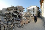 Earthquake destruction in central Italy. Associated Press.