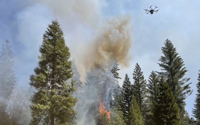 UCLA Engineering Student Uses Drone Sensing in Prescribed Burns to Prevent Wildfires