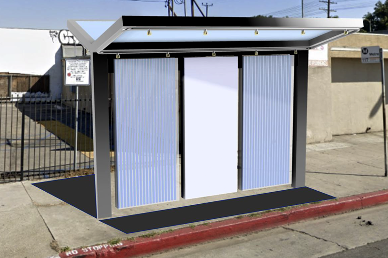 A rendering of a cooling structure prototype that could be deployed by the Heat Resilient L.A. team.