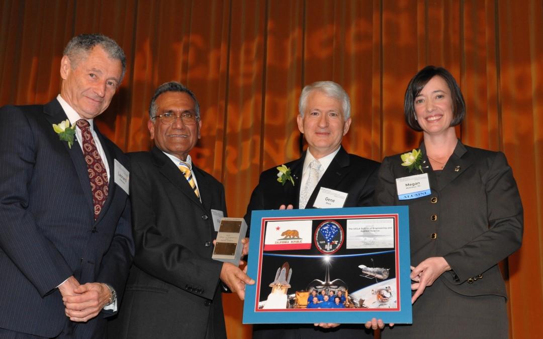 NASA Astronaut K. Megan McArthur '93 Presents UCLA Engineering with a Mini IMP that Flew in Orbit