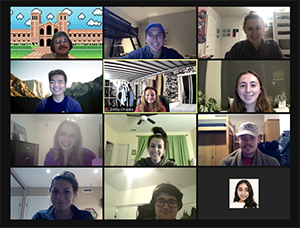 EWB-UCLA Members at a Nicaragua project meeting over Zoom