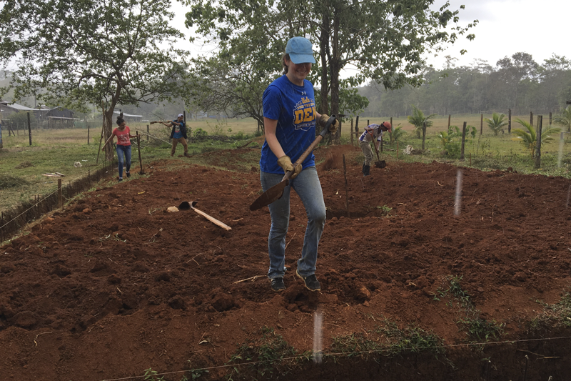 Engineers without Borders. Construction on project in Nicaragua