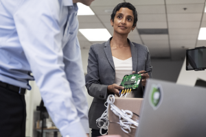 Nexleaf Analytics, the nonprofit technology company that Nithya Ramanathan co-founded, was awarded a Google AI Impact Challenge grant in 2019.