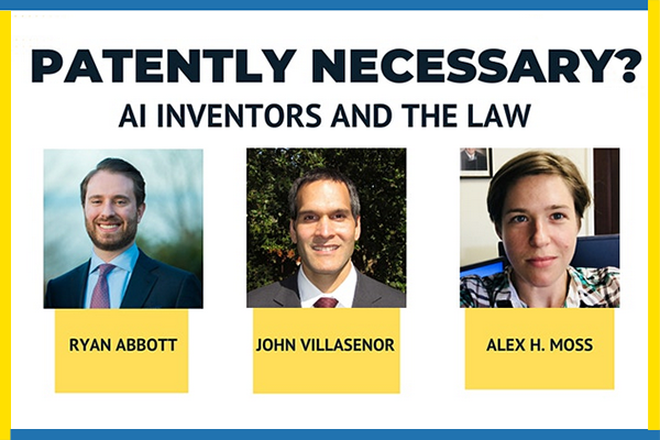 Patently Necessary? AI Inventors and the Law
