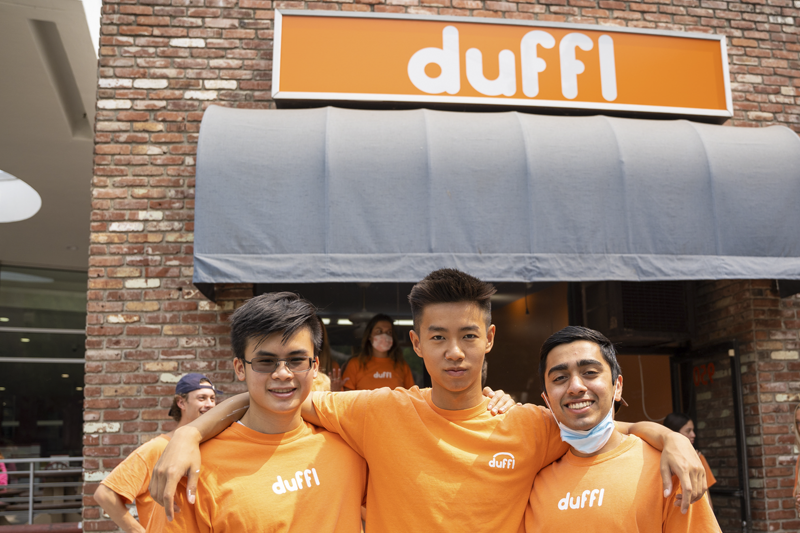 From left to right: Brian Le, David Lin and Yash Moondhra