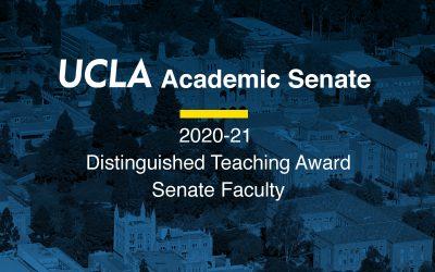 Engineering Professors and Recent Graduate Named UCLA 2020-2021 Distinguished Teachers