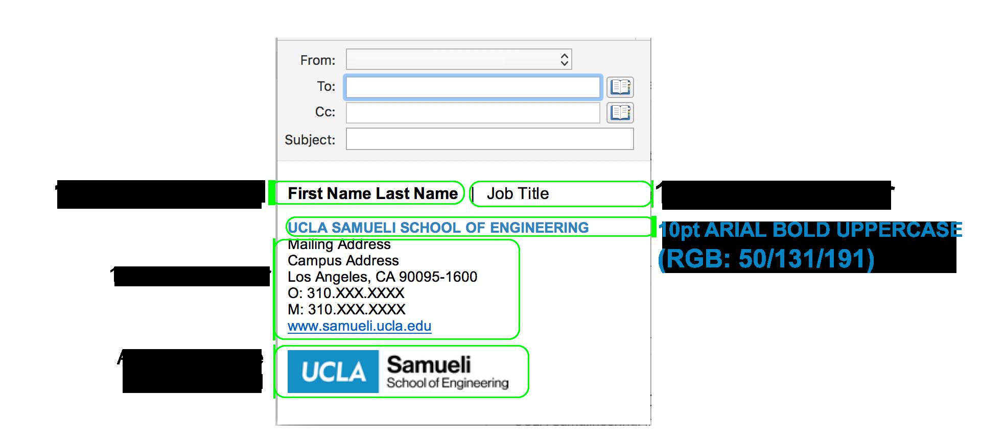 Style Guide Templates E-mail Signature | UCLA Samueli School