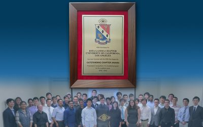 UCLA HKN Honor Society Receives Outstanding Chapter Award