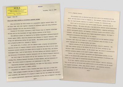 A UCLA press release, dated July 3, 1969